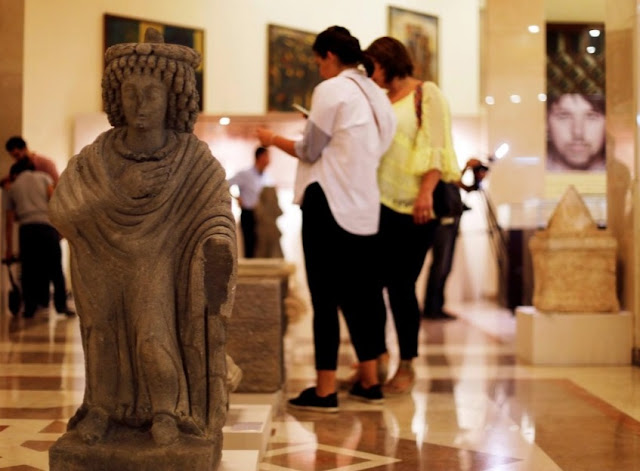 Palmyra priest statue among haul of recovered Syrian relics