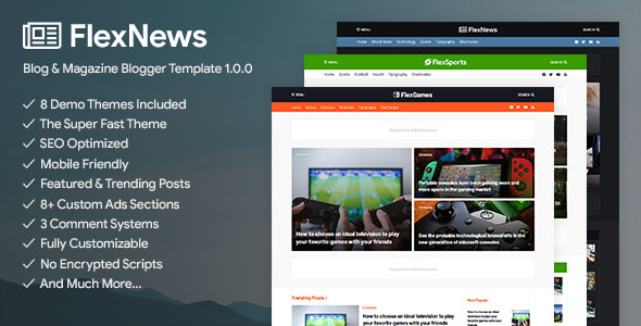FlexNews Blogger Template Premium Free Download