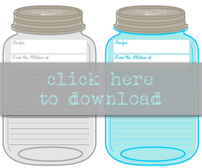 picture about Mason Jar Printable identify Totally free Printable Mason Jar Recipe Playing cards i should really be mopping