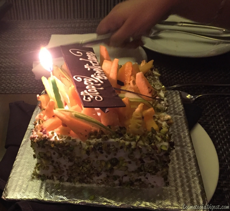 Birthday cake 2016 from Le Meridien
