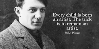 Pablo Picasso - Every child is born an artist. The trick is to remain an artist - Quotes