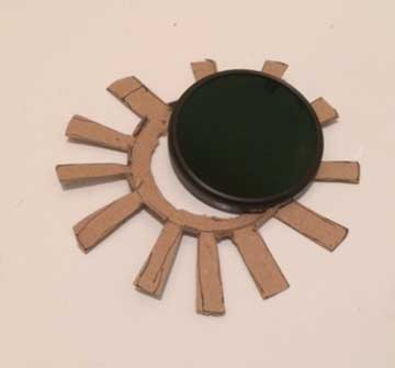 Home fabricated adapter for solar filter to match 300mm lens (Source: Palmia Observatory)