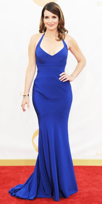 Tina Fey in a custom-made Narcisco Rodriguez gown and Fred Leighton jewels at the 65th Annual Primetime Emmy Awards, 2013
