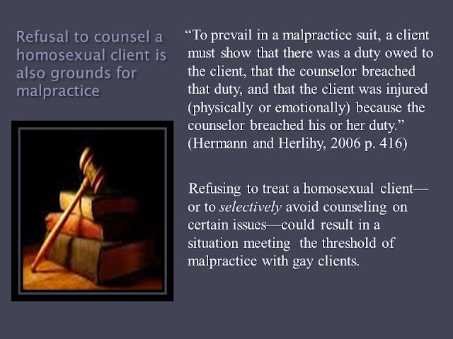 Article Review on Gay Counseling:  Legal and Ethical Implications of Refusing to Counsel Homosexual Clients by Tony Astro