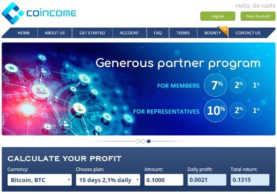 Coincome info