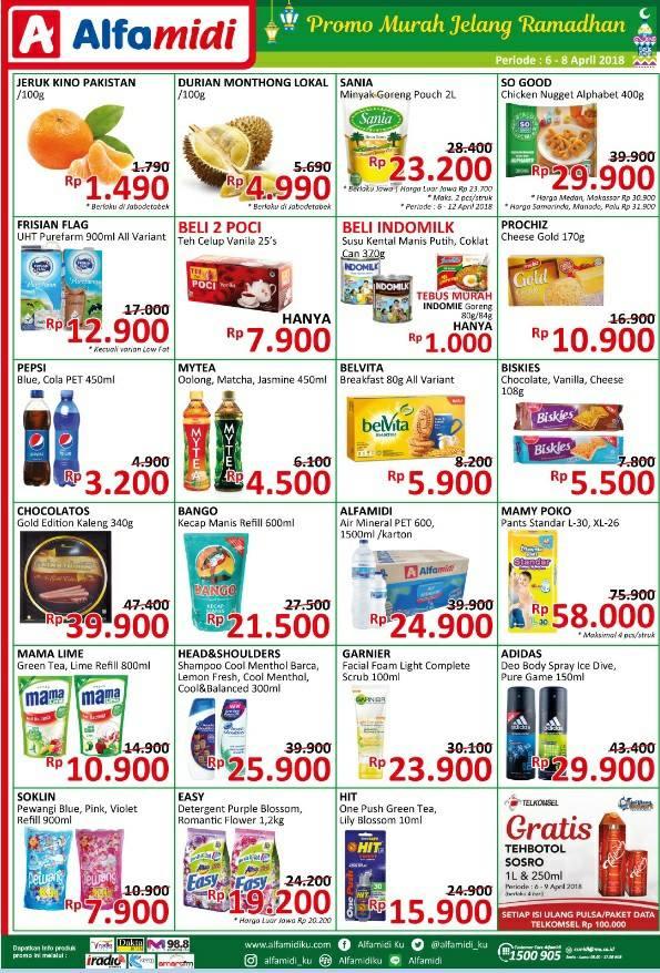Katalog Harga Promo ALFAMIDI JSM Akhir Pekan Weekend 06 - 08 April 2018