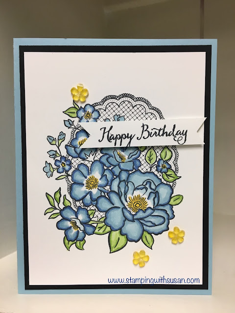 Stampin' Up!, Lovely Lattice, Stampin' Blends, www.stampingwithsusan.com, Frosted Flower Embellishments