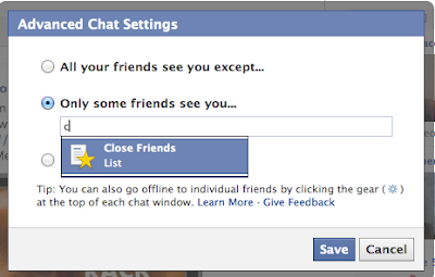Pilih Siapa yang Dapat Melihat Anda di Chat Online Facebook
