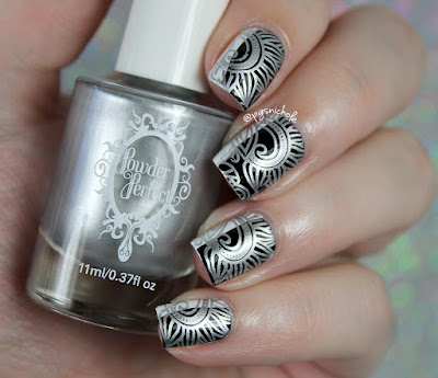 Powder Perfect Silver Stamping Polish