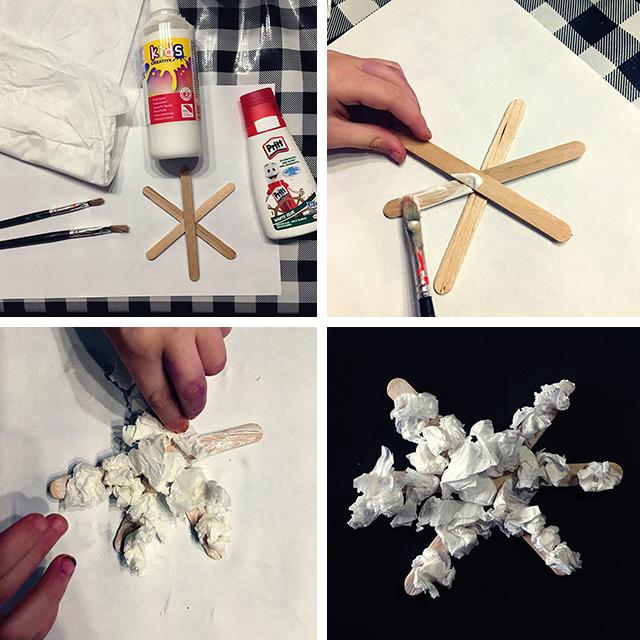 sneeuwkristallen knutselen ijstokjes peuter