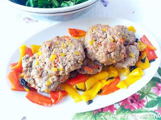 Hamburger con peperoni