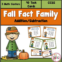Fall Fact Families using Addition and Subtraction