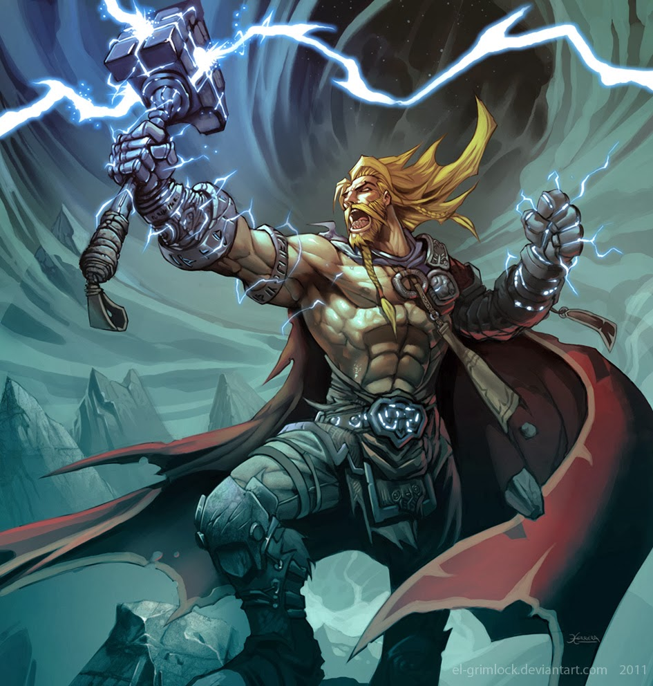 Fashion and action a mighty thor 39 s day art gallery - Thor art wallpaper ...