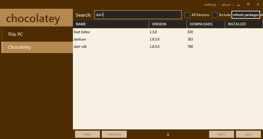 Где найти GUI для Chocolatey с разделением по задачам ПО