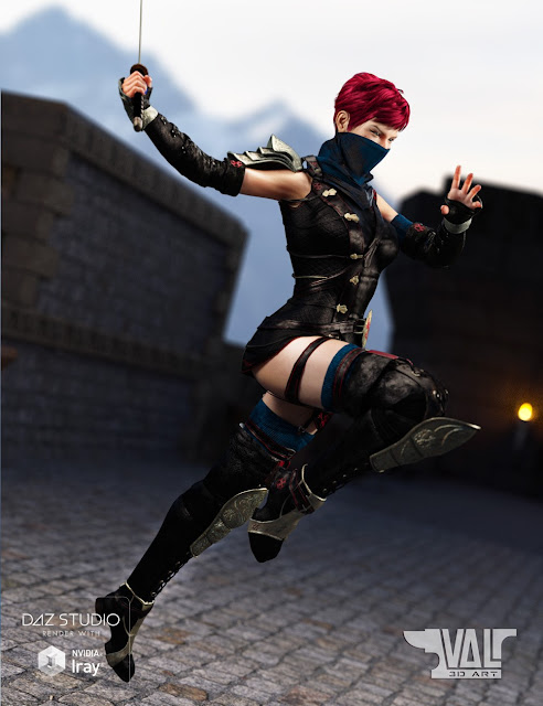 Lethal Whisper Outfit and Poses for Genesis 8 Female and Victoria 8