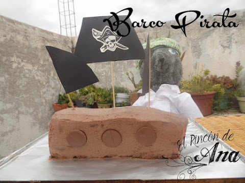 Pastel barco pirata