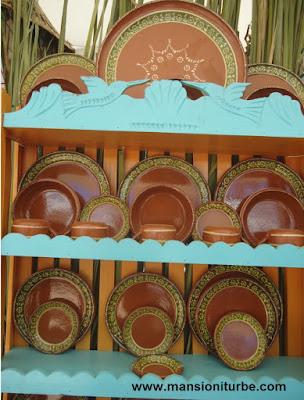 Vajilla de barro: alfarería de Michoacán