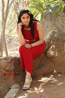 Telugu Actress Zahida Sam Latest Pos in Red Gown at RF Films New Movie Opening  0277.JPG