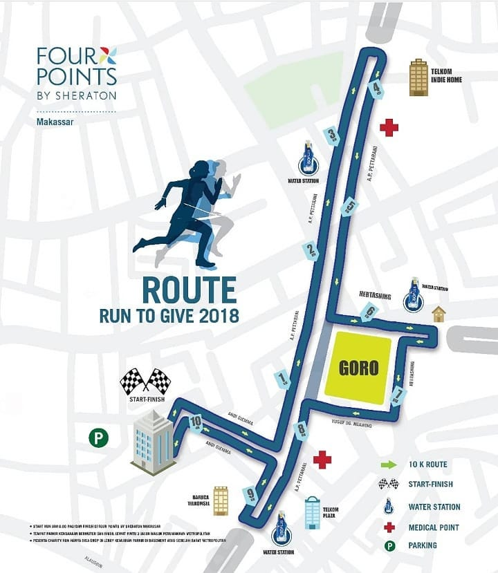 Route Run to Give - Makassar • 2018