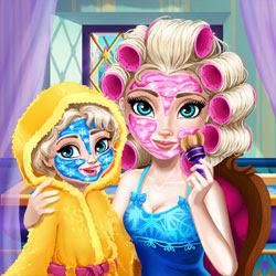 العاب مكياج ملكة الجليد وابنتها