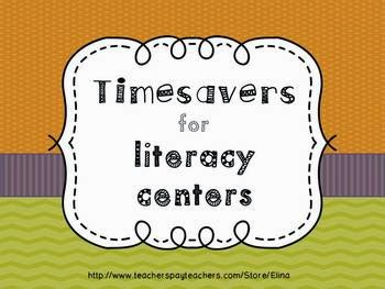 http://www.teacherspayteachers.com/Product/Time-Savers-for-literacy-centers-932692