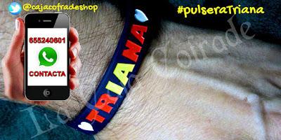 Pulsera Triana hecha en caucho, pulsera Triana hecha en silicona, pulsera Triana personalizable
