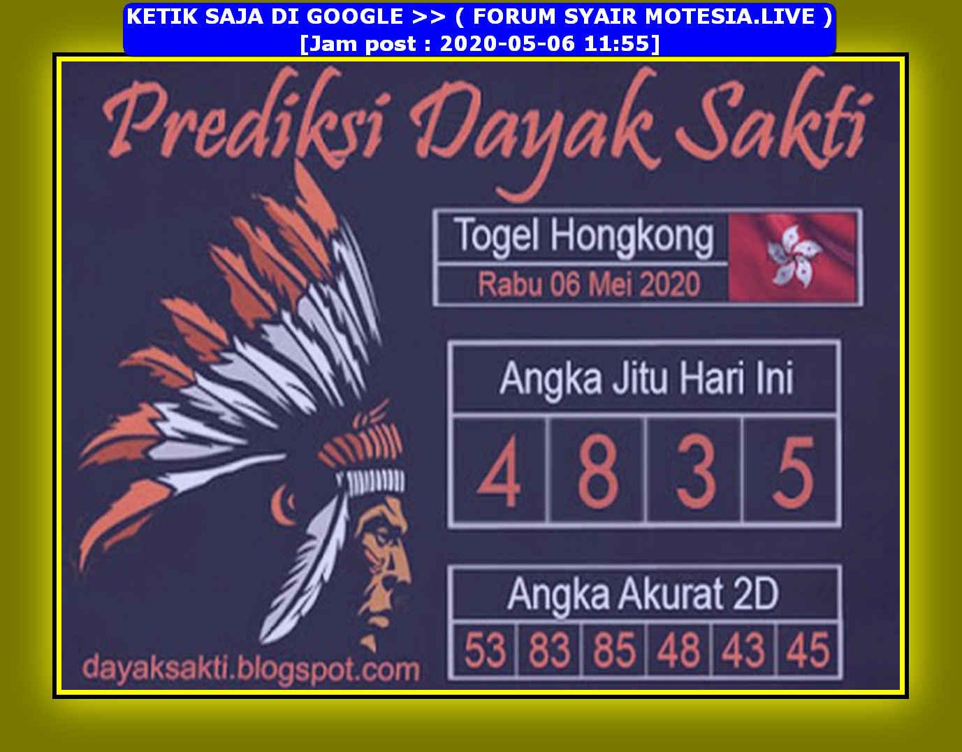 Kode syair Hongkong Rabu 6 Mei 2020 133