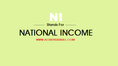 Concept of National Income - One Liner Points