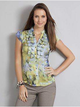 blusas floreadas de moda