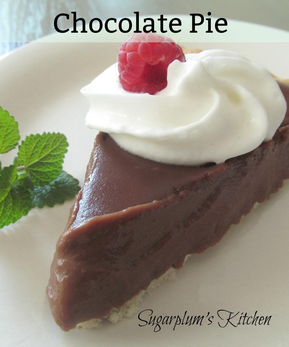 Sugarplum's Kitchen: Chocolate Pie