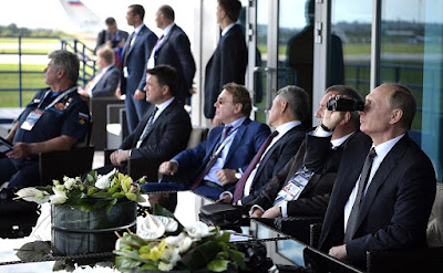 The President visited International Aviation and Space Salon MAKS-2017.