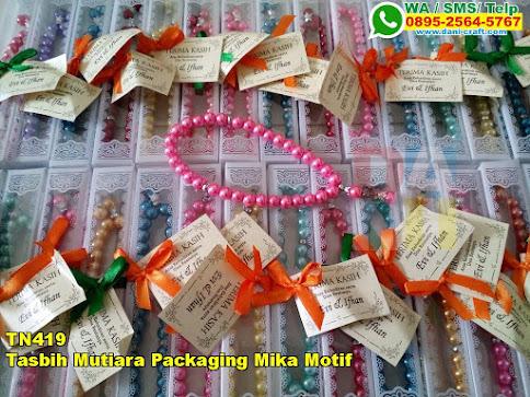 Harga Tasbih Mutiara Packaging Mika Motif