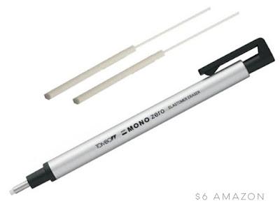 Tombow Mono Zero eraser for erasing details