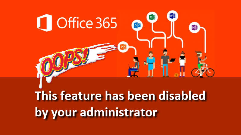 'This feature has been disabled by your administrator' - error in Microsoft Office applications