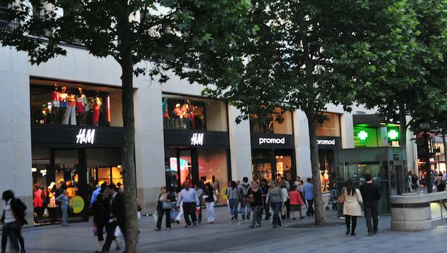Lojas H&M em Paris