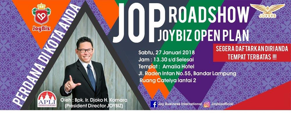 Presentasi JOP Roadshow Perdana Joybiz di Kota Lampung