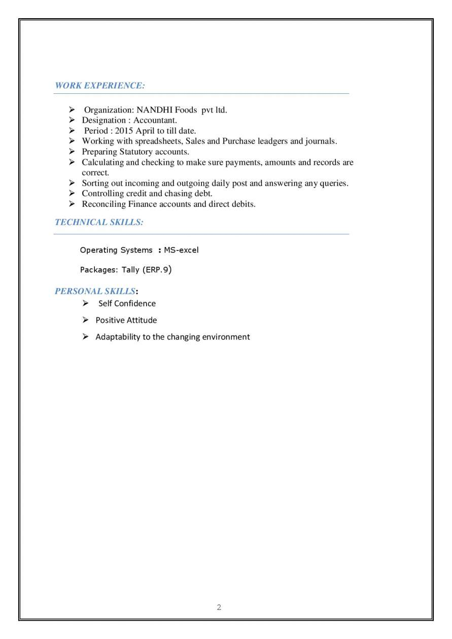 download above full resume in word format