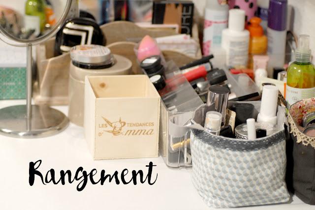 Rangement Maquillage Petits Espaces Toute De Rose Poudrée