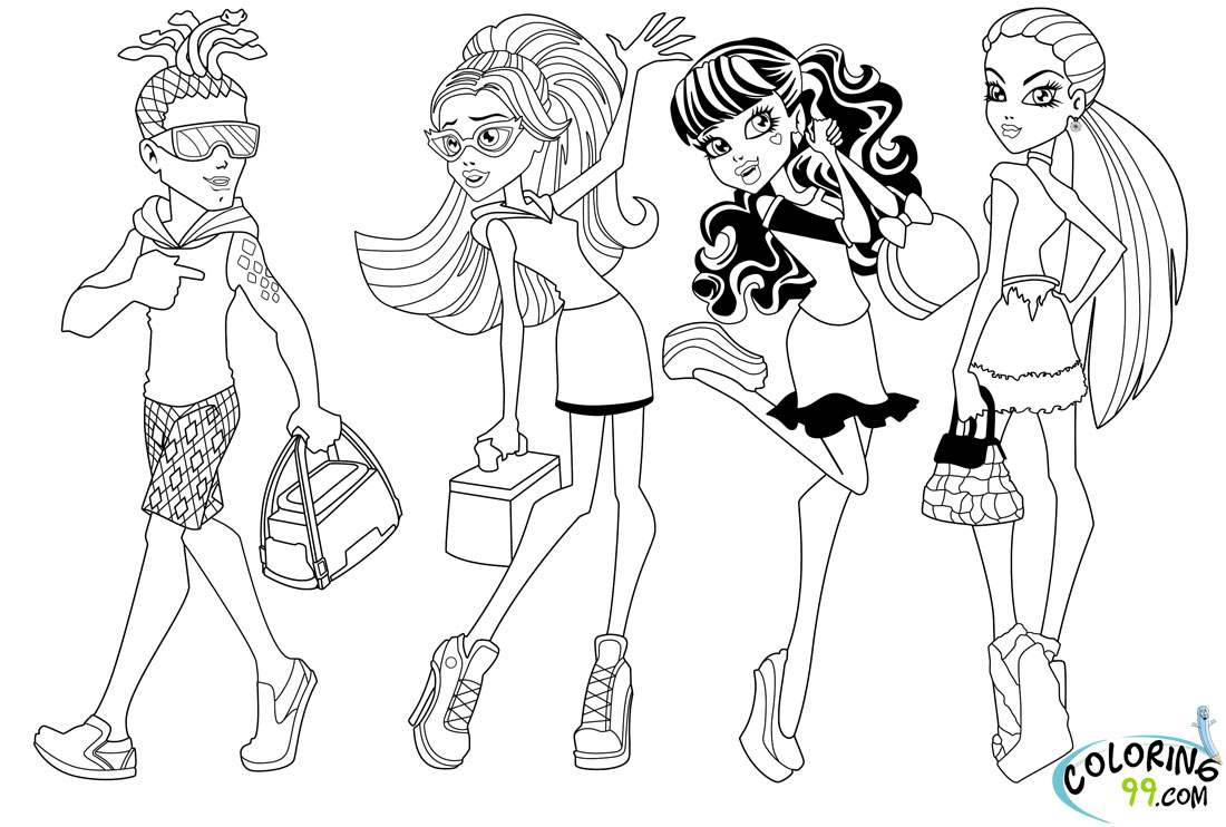 Monster High Draculaura Coloring Pages - Costumepartyrun
