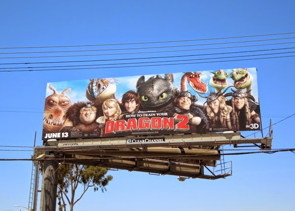 How to Train Your Dragon 2 movie billboard