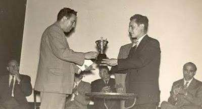 Miquel Albareda campeón del II Torneo Nacional de Ajedrez de La Pobla de Lillet 1956