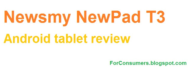 Newsmy NewPad T3 Android tablet review