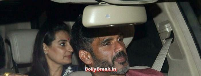 Mana Shetty, Sunil Shetty, Celebs clicked at 'Kick' Special Screening at Yash Raj Studios