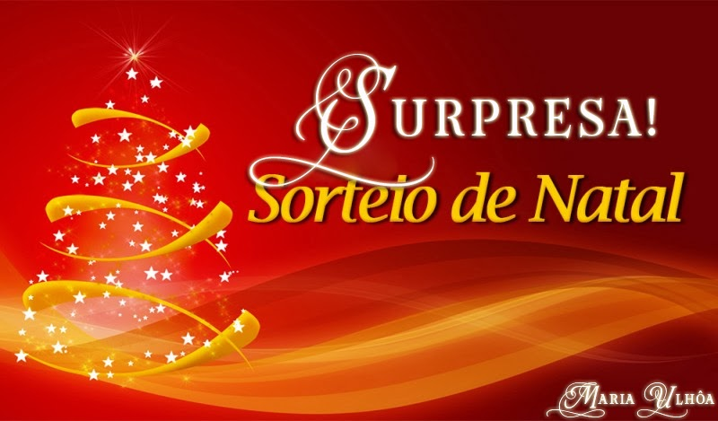 Sorteio de Natal - Blog Maria Ulhôa