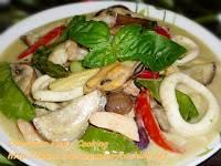 Seafood and Vegetable Green Curry