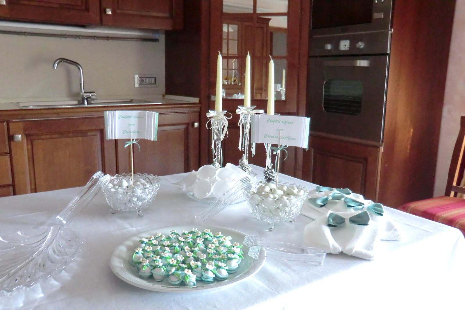 Famoso Confetti decorati con pasta di zucchero e addobbi a casa dello  TX14
