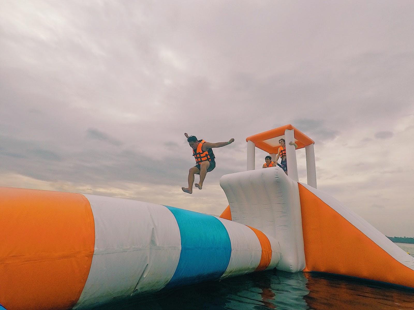 Inflatable Island Human Launcher