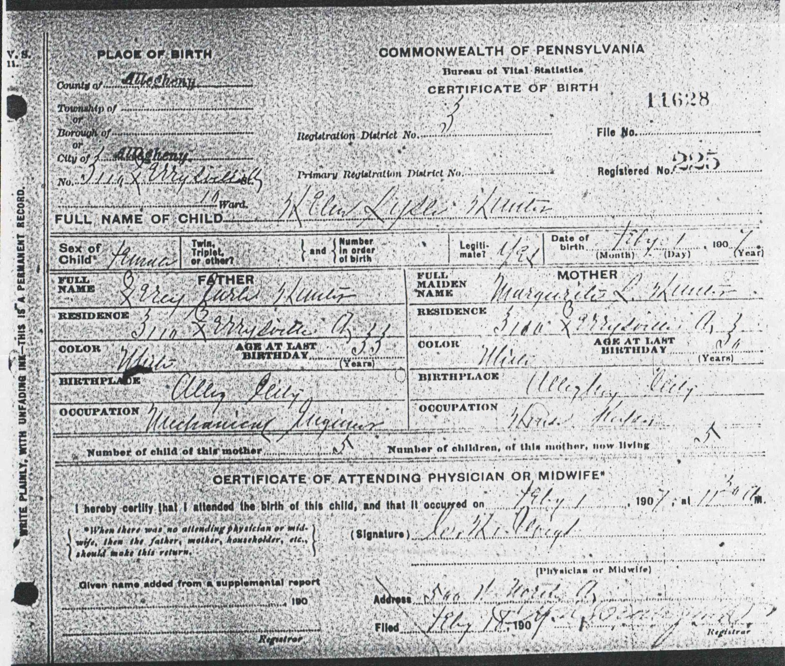 From Maine To Kentucky Grandmothers Birth Certificate