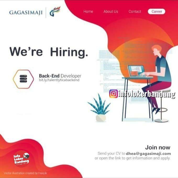 Lowongan Kerja Back-End Developer PT. Gagas Daya Imaji Bandung Mei 2019