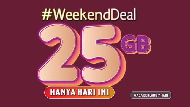 Tips mendapatkan paket #WeekendDeal 25GB yang Hilang